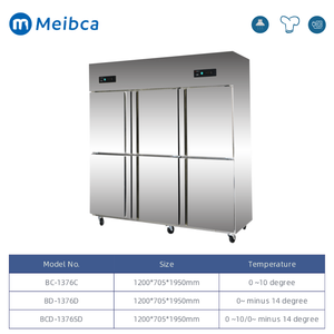 6 Doors Commercial Upright Display Fridge For Sale